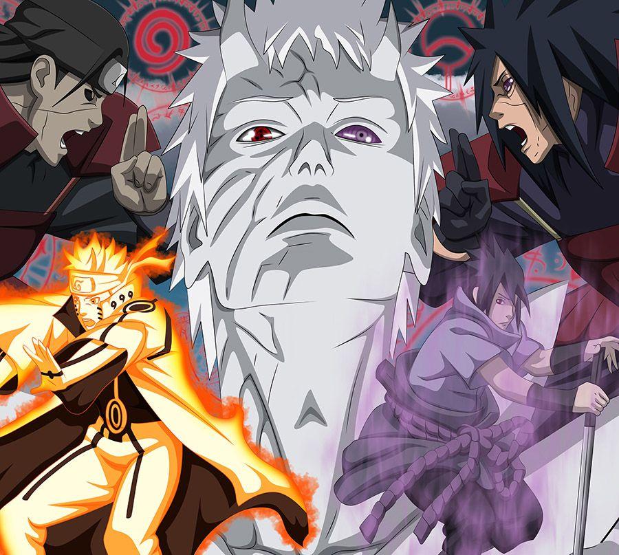Papel de Parede Adesivo Infantil Naruto Grande Guerra  - Final Decor