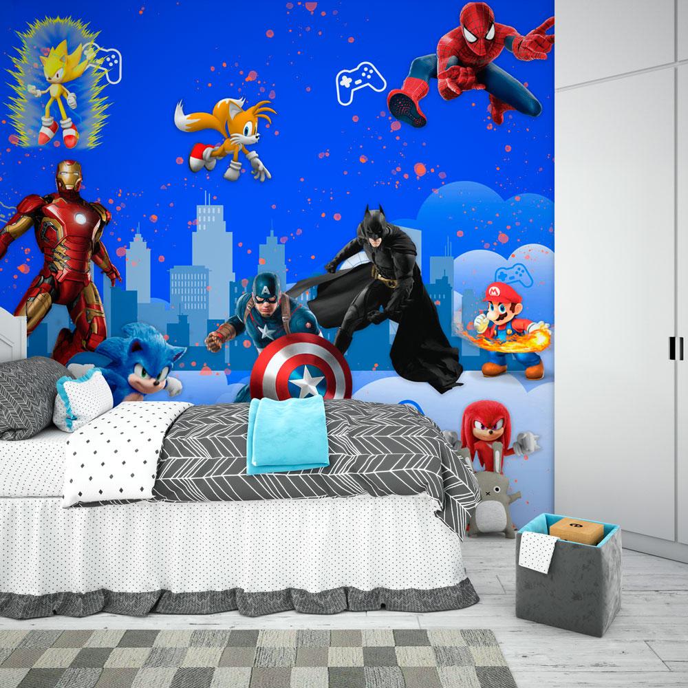 Papel De Parede Adesivo, Infantil Personagens Animados 1X1  - Final Decor