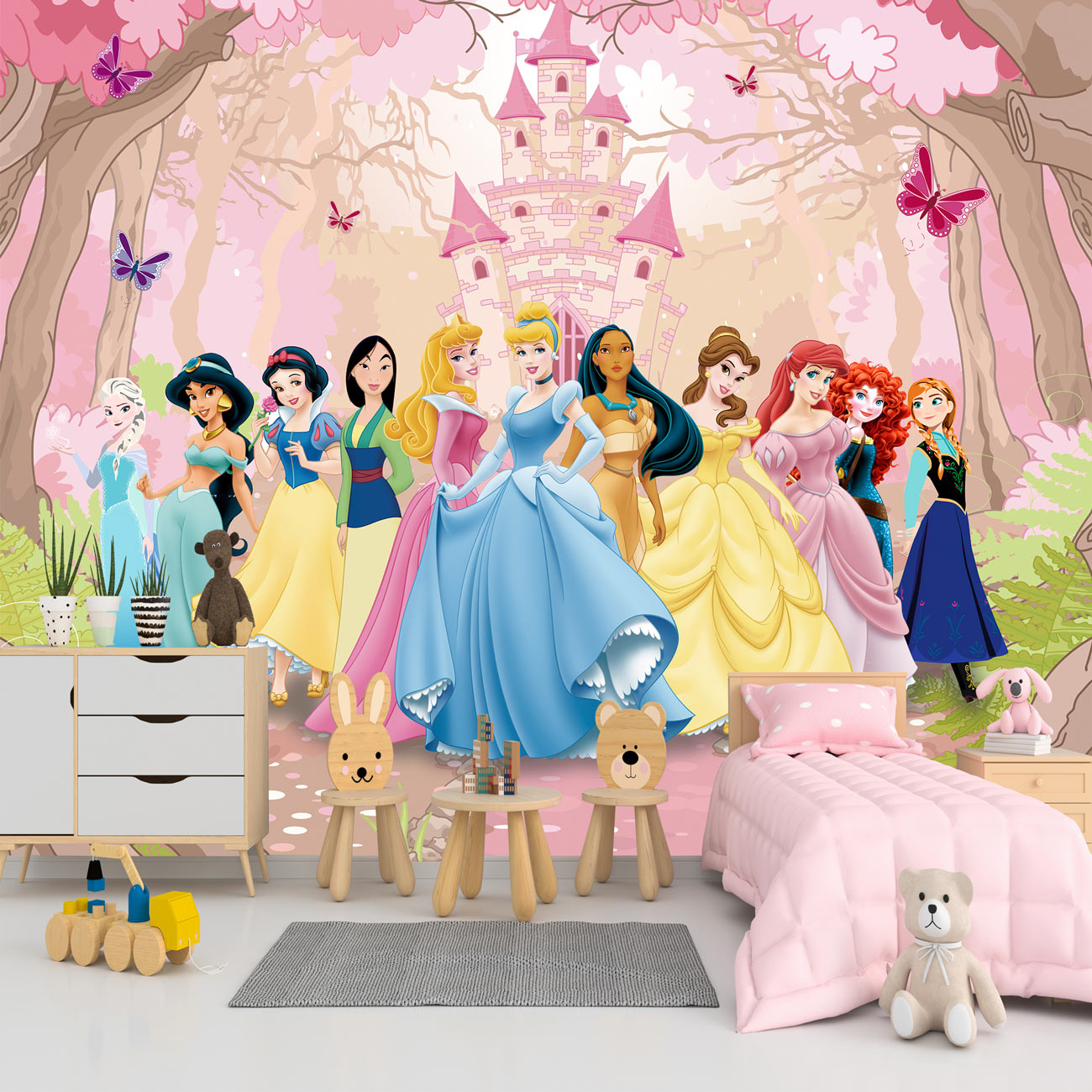 Papel de Parede Adesivo, Infantil Princesas Disney  - Final Decor