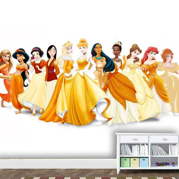 Papel de Parede Adesivo Infantil Princesas   - Final Decor