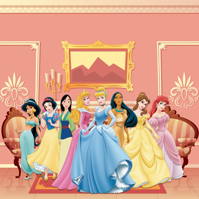 Papel de Parede Adesivo, Infantil Princesas Castelo 1X1  - Final Decor