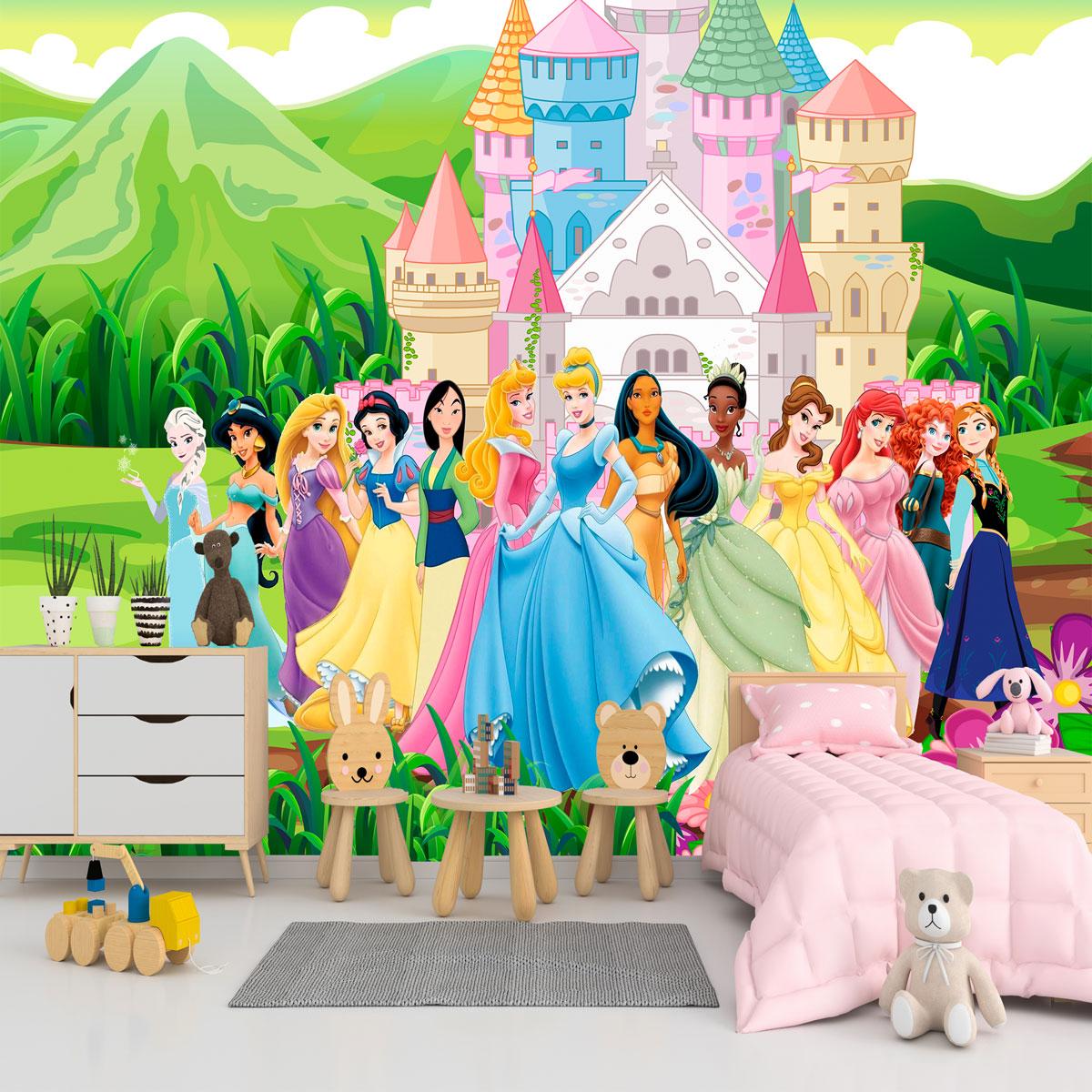 Papel de Parede Adesivo, Infantil Princesas Jardim 1X1  - Final Decor