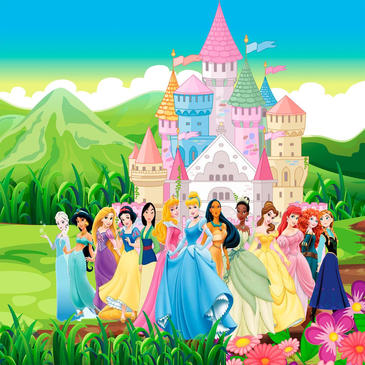 Papel de Parede Adesivo, Infantil Princesas Jardim  - Final Decor
