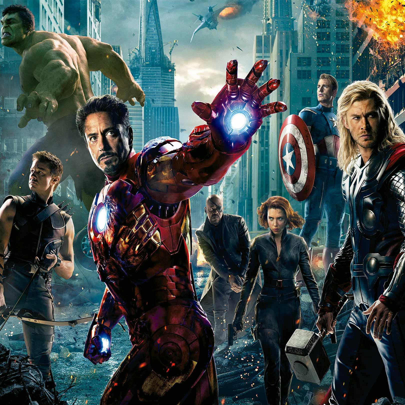 Papel de Parede Adesivo Infantil Vingadores Explosão Marvel  - Final Decor