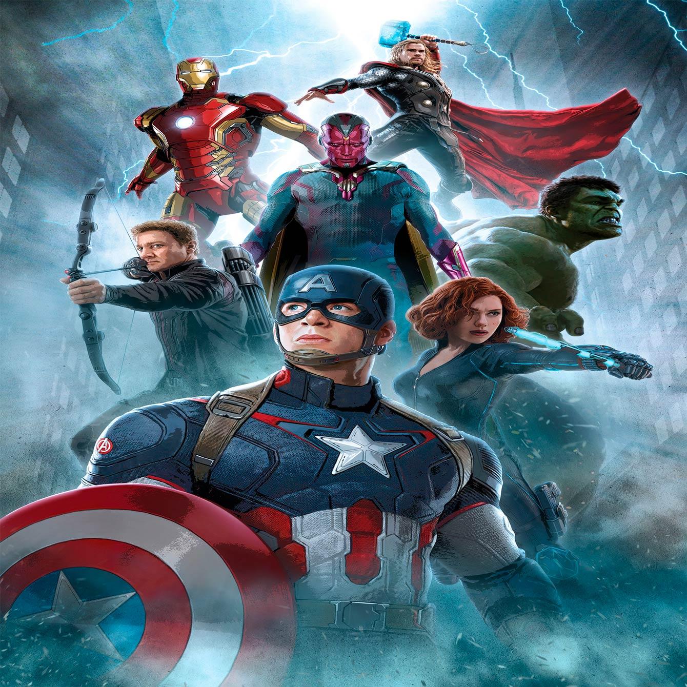 Papel De Parede Adesivo, Infantil Vingadores Marvel Clássico 1X1  - Final Decor