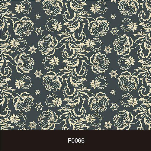 Papel de Parede Adesivo Lavável Floral Azul Marinho e Dourado F0066   - Final Decor