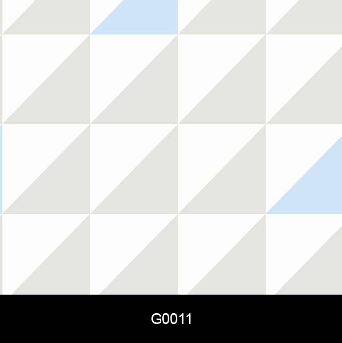 Papel de Parede Adesivo lavável Quadrado Branco, Cinza, Azul G0011  - Final Decor