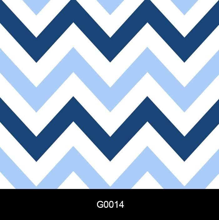 Papel de Parede Adesivo Lavável G0014 Chevron Azul, Branco  - Final Decor
