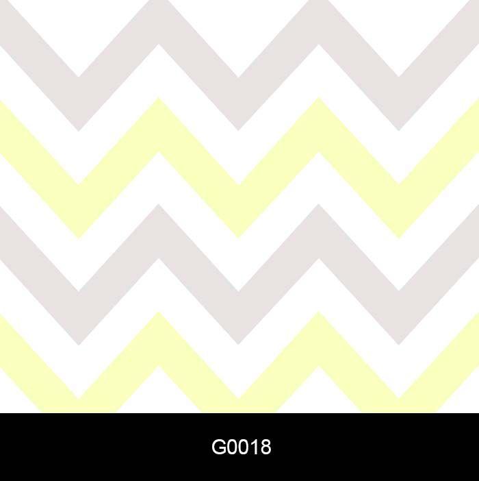 Papel de Parede Adesivo Lavável G0018 Chevron Amarelo e Cinza Claro  - Final Decor