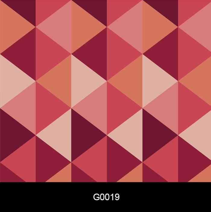 Papel de Parede Adesivo Lavável G0019 Geométrico Vermelho  - Final Decor