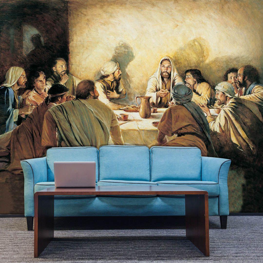 Papel de Parede Adesivo Personalizado, Religião, Santa Ceia, Jesus Cristo  - Final Decor