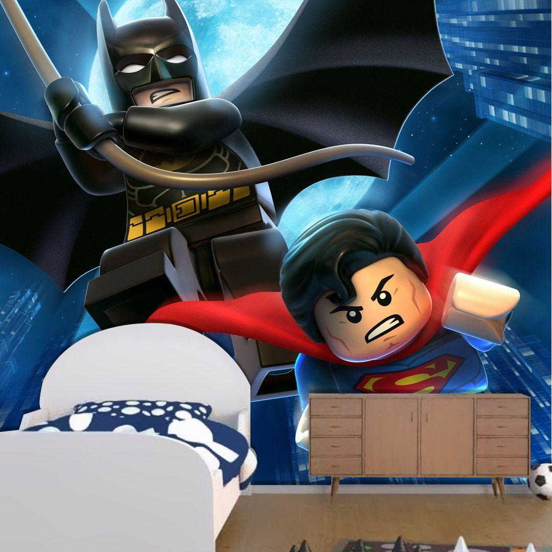 Papel de Parede Adesivo, Superman e Batman Lego  - Final Decor