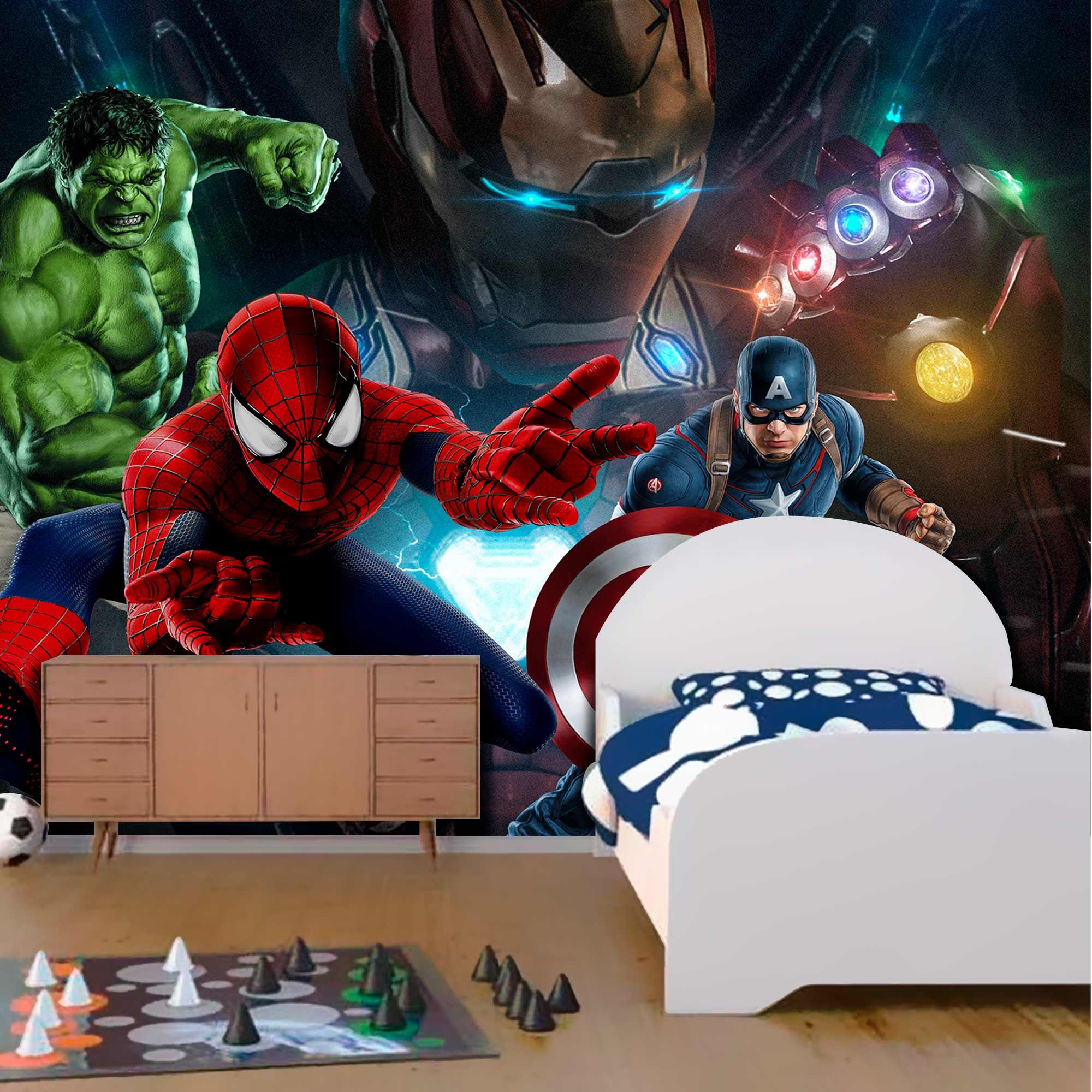 Papel de Parede Adesivo Vingadores Marvel 1X1  - Final Decor
