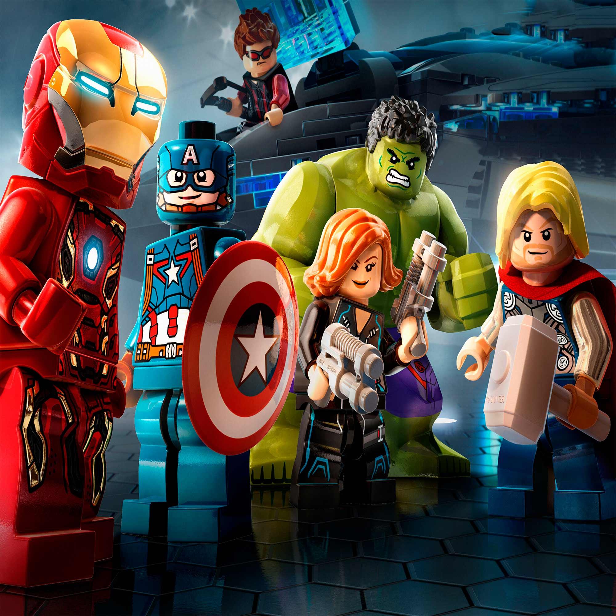 Papel De Parede Adesivo Vingadores Marvel Lego 1X1  - Final Decor