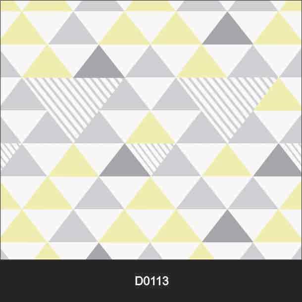 Papel de Parede Auto Adesivo Triangulo Amarelo, Branco e Cinza D0113  - Final Decor