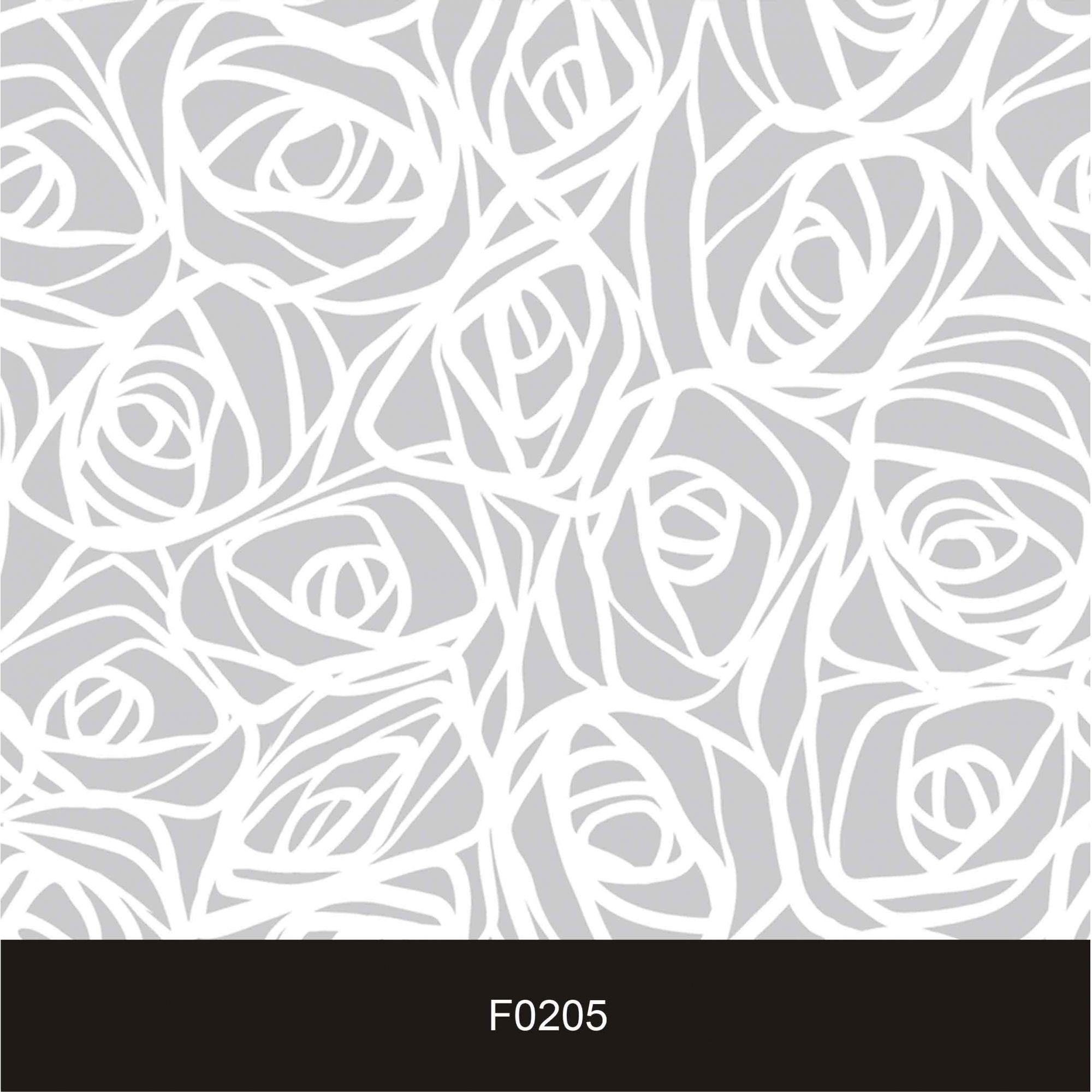 Papel de Parede Auto  Adesivo Floral, F205  Cinza e Branco Clean  - Final Decor