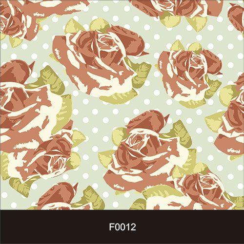 Papel de Parede Adesivo Lavável f0012 Floral Retro  - Final Decor