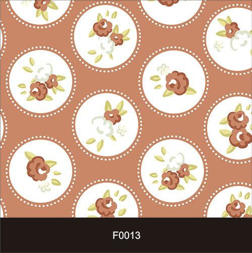 Papel de Parede Adesivo Lavável f0013 Floral Retro  - Final Decor
