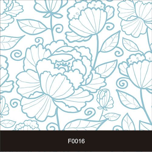 Papel de Parede Adesivo Lavável f0016 Floral Azul  - Final Decor