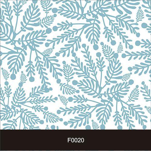 Papel de Parede Adesivo Lavável f0020 Floral  Folha Azul  - Final Decor