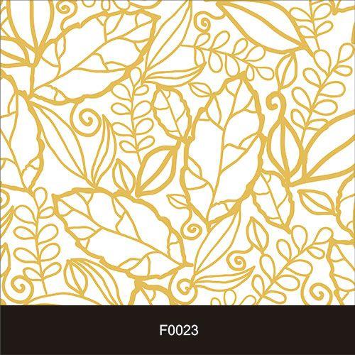 Papel de Parede Adesivo Lavável Floral Folhas Amarelas F0023  - Final Decor