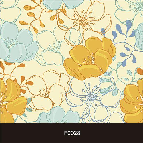 Papel de Parede Adesivo Lavável f0028 Floral Amarelas Retro  - Final Decor