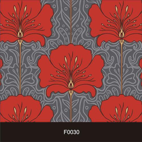 Papel de Parede Adesivo Lavável Floral Clássico Vermelho F0030  - Final Decor