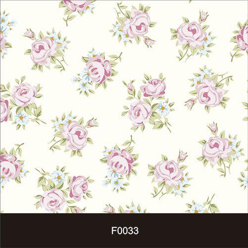 Papel de Parede Adesivo Lavável f0033 Floral Bege Delicado  - Final Decor