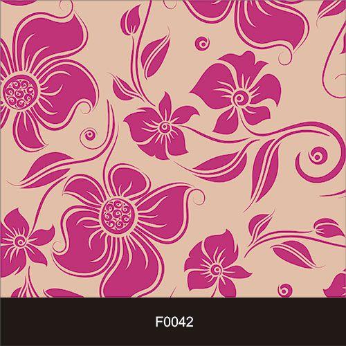 Papel de Parede Adesivo Lavável Floral Magenta F0042  - Final Decor
