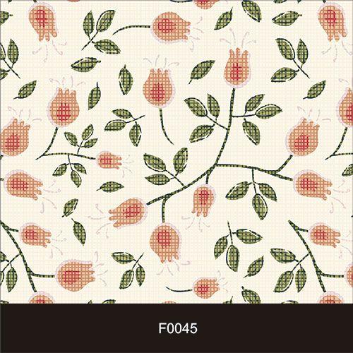 Papel de Parede Adesivo Lavável  f0045 Floral Xadrez Vintage  - Final Decor