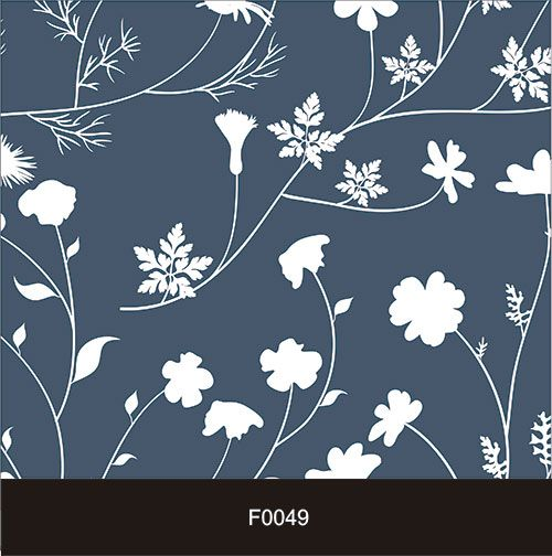 Papel de Parede Adesivo Lavável Floral Azul Marinho F0049   - Final Decor