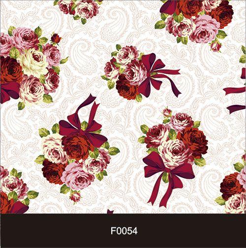 Papel de Parede Adesivo Lavável f0054 Floral Clássico Vermelho  - Final Decor