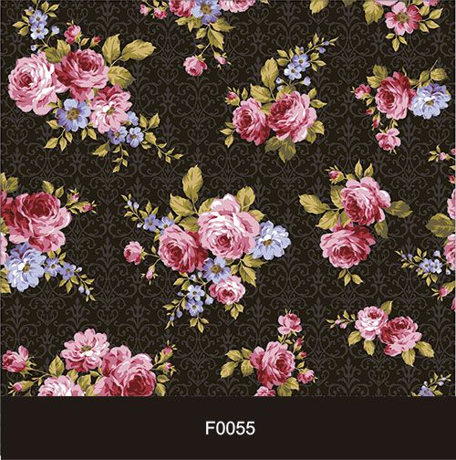 Papel de Parede Adesivo Lavável f0055 Floral Vintage Preto  - Final Decor