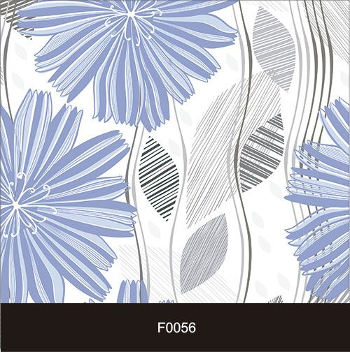 Papel de Parede Adesivo Lavável f0056 Floral Folhas Delicadas Azuis  - Final Decor