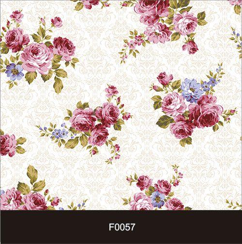 Papel de Parede Adesivo Lavável f0057 Floral Vintage Claro  - Final Decor