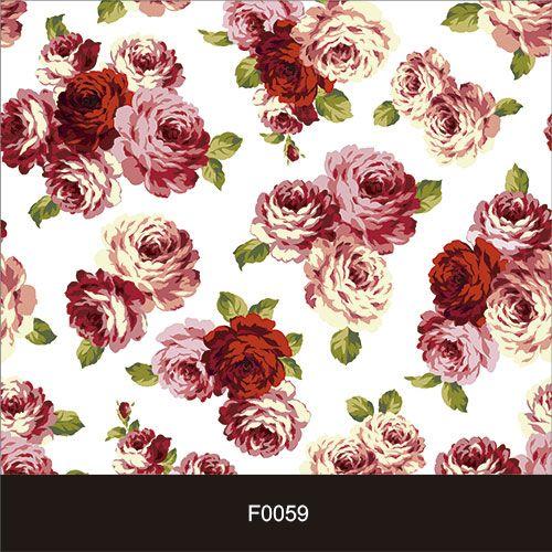 Papel de Parede Adesivo Lavável f0059 Floral Rosadas e Vermelhas  - Final Decor