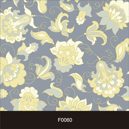 Papel de Parede Adesivo Lavável Floral Azul Vintage F0060  - Final Decor