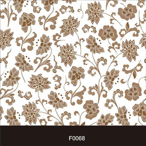Papel de Parede Adesivo Lavável f0068 Floral Marrom  - Final Decor