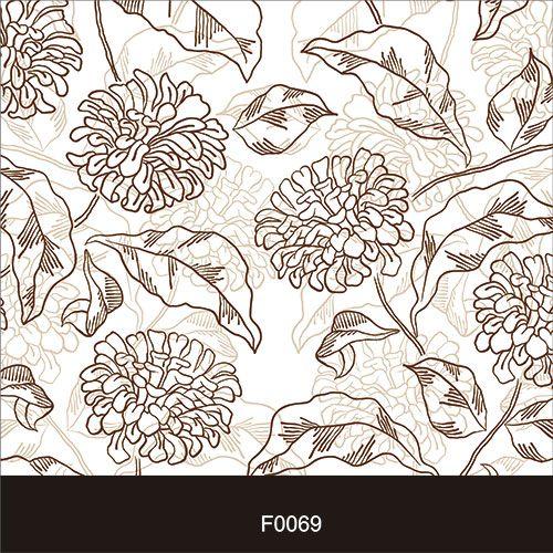 Papel de Parede Adesivo Lavável f0069 Floral Vintage  - Final Decor