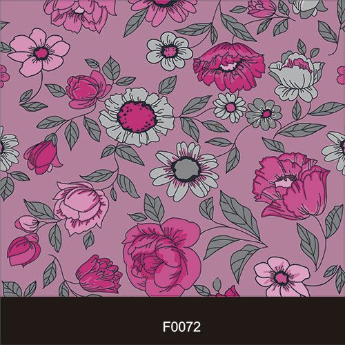 Papel de Parede Adesivo Lavável f0072 Floral Roxo  - Final Decor