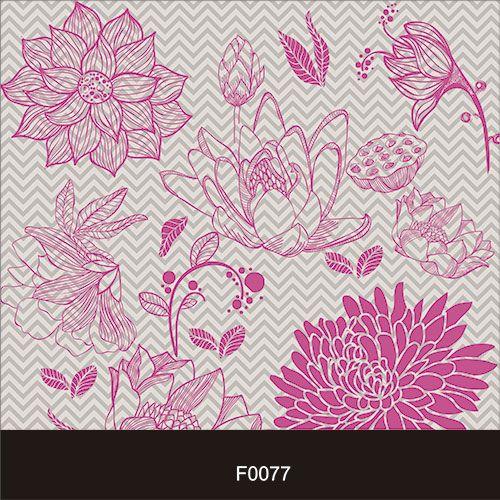 Papel de Parede Adesivo Lavável Floral Chevron Cinza F0077  - Final Decor
