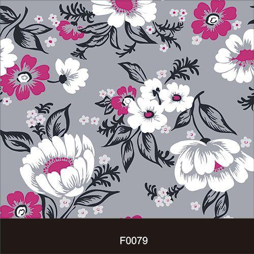Papel de Parede Adesivo Lavável f0079 Floral Rosa e Branco  - Final Decor