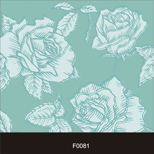 Papel de Parede Adesivo Lavável f0081 Floral Grande Azul  - Final Decor