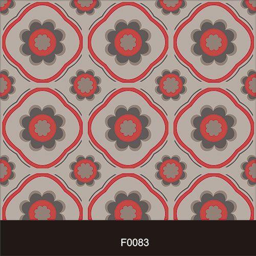 Papel de Parede Adesivo Lavável Floral Vintage Vermelho F0083  - Final Decor