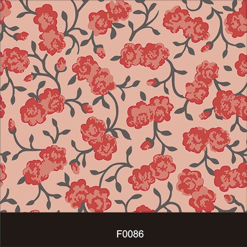 Papel de Parede Adesivo Lavável Floral Clássico Rosa F0086  - Final Decor