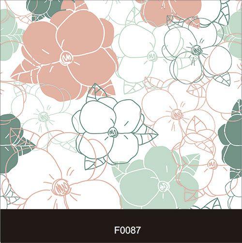 Papel de Parede Adesivo Lavável  f0087 Floral Vazado  - Final Decor