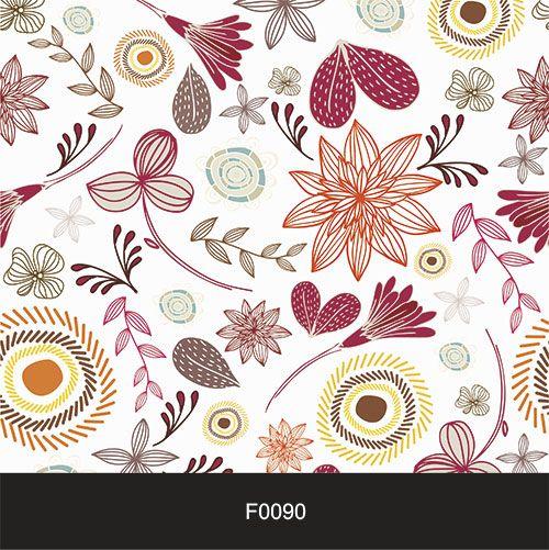 Papel de Parede Adesivo Lavável f0090 Floral Moderno  - Final Decor