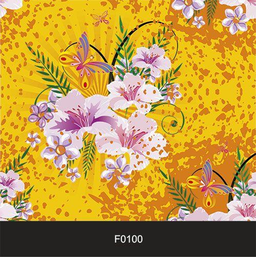 Papel de Parede Adesivo Lavável Floral Cores Vivas F0100  - Final Decor
