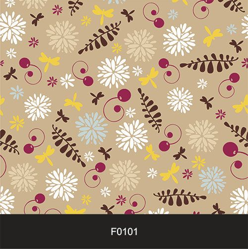 Papel de Parede Adesivo Lavável f0101 Floral Folhagem Colorida  - Final Decor