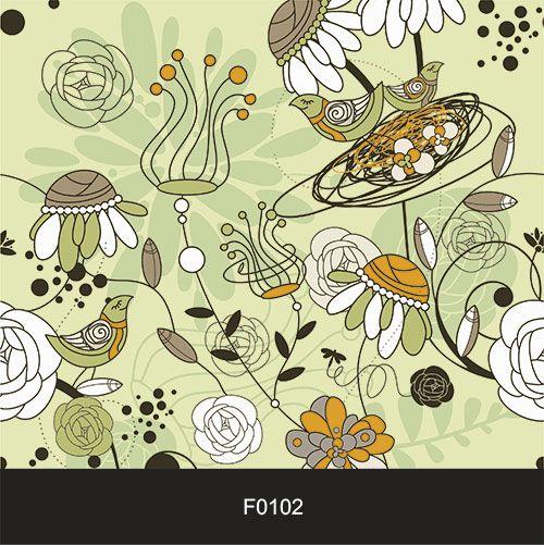 Papel de Parede Adesivo Lavável f0102 Floral Colorido Moderno  - Final Decor